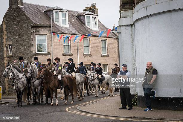 Riders wait for the start of the Selkirk Common Riding event on June 13th 2014 The event a celebration of ancient traditions and history began when...