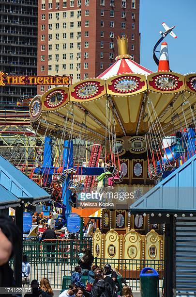 CONTENT] Rides at Coney Island's Luna Park amusement park