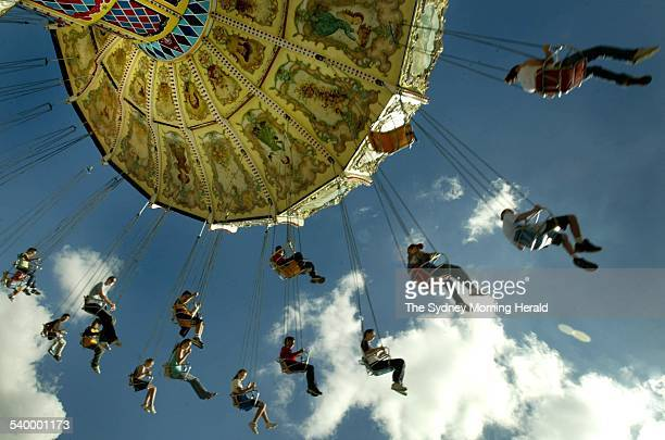 Rides Down Carnival Alley At The Royal Easter Show Homebush Sydney 9 April 2004 SMH Picture
