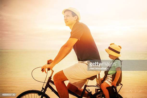Riding a bicycle on a vacation
