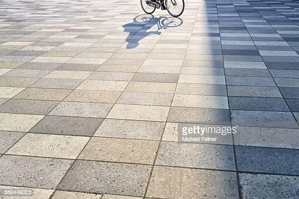Riding a bike in urban public space