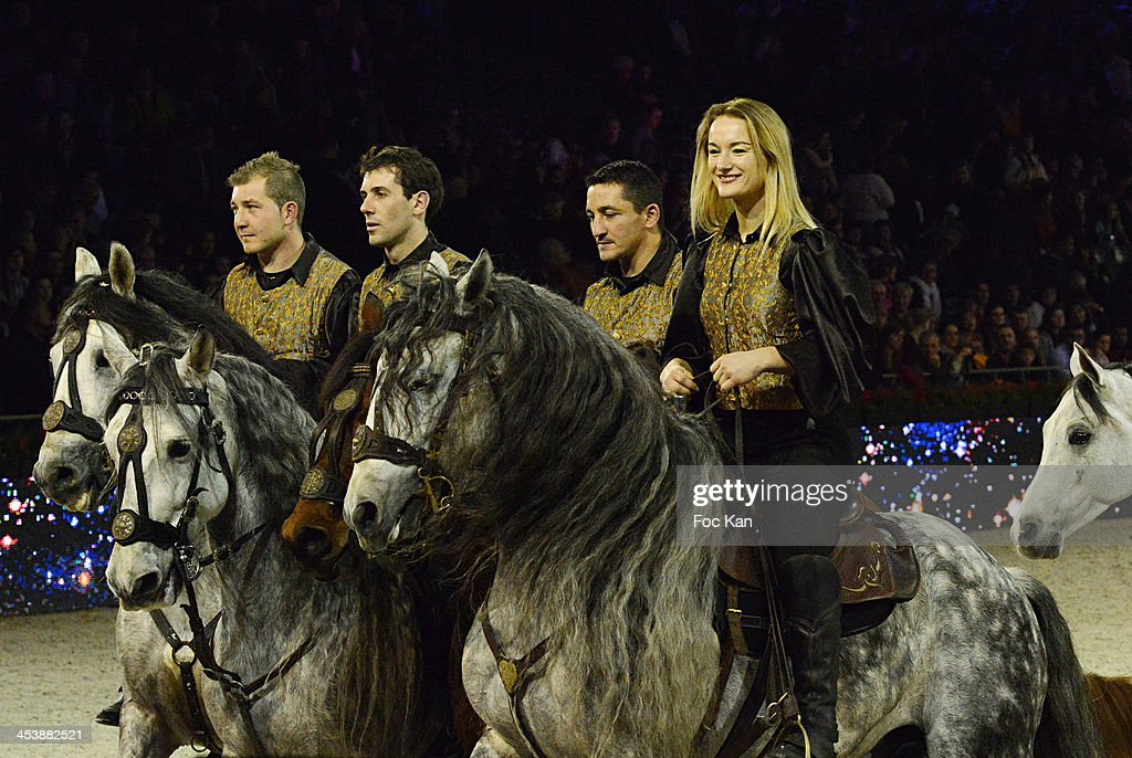 Riding artists perform during the Horse Music Show as part of Gucci Paris Masters 2013 - Day 1 at Paris Nord Villepinte on December 5, 2013 in Paris, France.