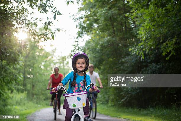 Riding Bikes Through the Woods