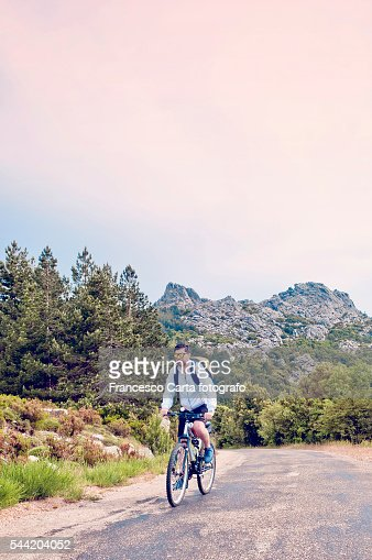 Riding in the mountains