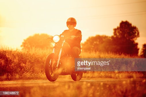 Riding in the sunset