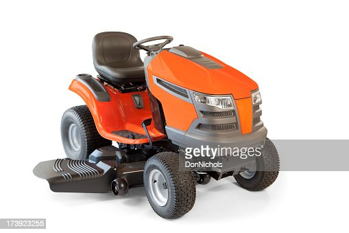 Riding Lawn Mower Isolated