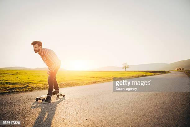 Riding Longboard