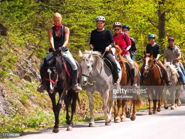 Équitation sur la route