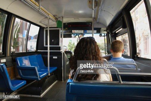 Equitazione Transito Pubblicoallinterno Di Un Autobus Foto