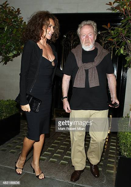 Ridley Scott at Scott's restaurant on August 6 2015 in London England