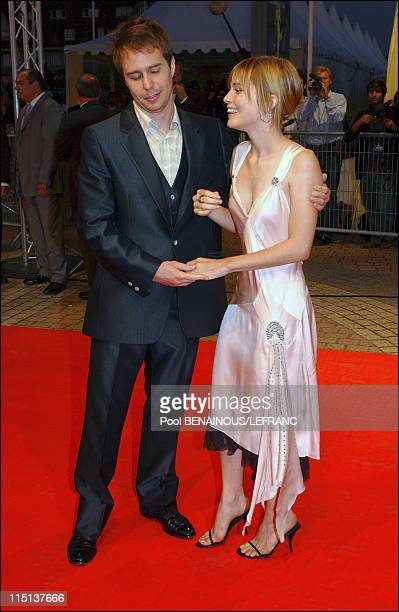 Ridley Scott at the Deauville US film festival in Deauville France on September 14 2003 Sam Rockwell and Alison Lohman