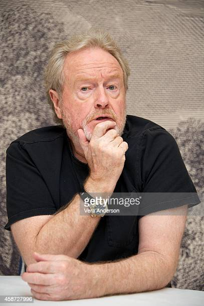 Ridley Scott at the 'Exodus Gods And Kings' Press Conference at Ham Yard Hotel on November 9 2014 in London England