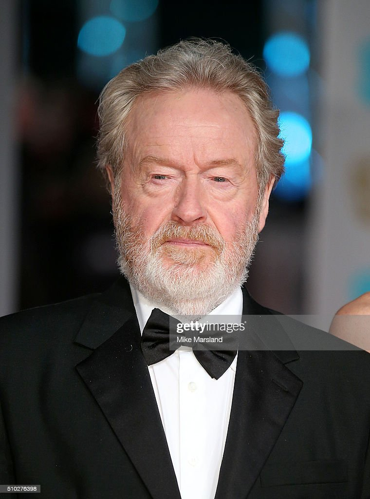 <a gi-track='captionPersonalityLinkClicked' href=/galleries/search?phrase=Ridley+Scott&family=editorial&specificpeople=215470 ng-click='$event.stopPropagation()'>Ridley Scott</a> attends the EE British Academy Film Awards at The Royal Opera House on February 14, 2016 in London, England.