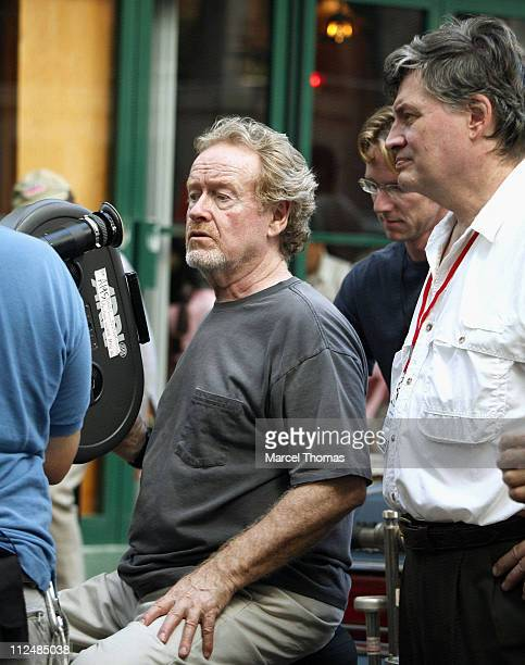 Ridley Scott director during Denzel Washington and Russell Crowe on the set 'American Gangster' September 16 2006 at Lower Manhattan in New York City...