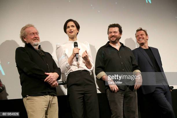 Ridley Scott Katherine Waterston Danny McBride and Michael Fassbender attend a screening of the 1979 film Alien with previews of the new Alien...