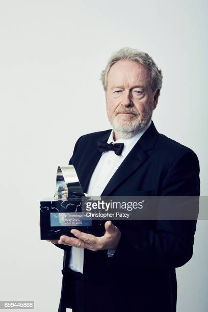 Ridley Scott pose for a portrait at the 2016 American Cinematheque Awards with his award honor on October 14 2016 in Beverly Hills California