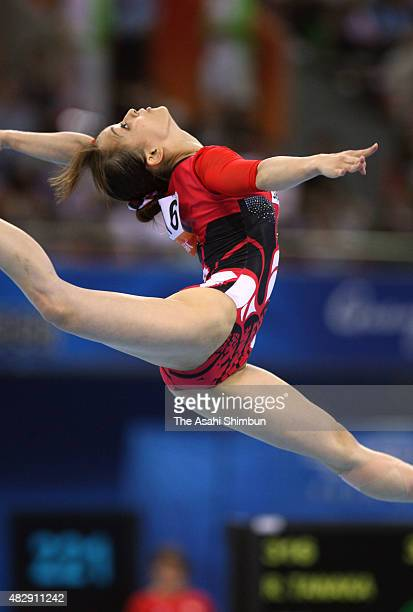 Rie Tanaka of Japan comeptes in the Floor of the Women's Team of the Gymnastics during day two of the Guangzhou Asian Games at Guangzhou Gymnasium on...