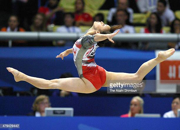 Rie Tanaka of Japan competes in the Floor of the Women's Individual All Around during day seven of the Artistic Gymnastics World Championships Tokyo...
