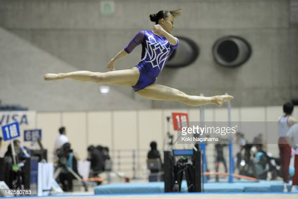 Rie Tanaka of Japan competes on the Floor during day two of the 66th All Japan Artistic Gymnastics All Around Championships at Yoyogi National...