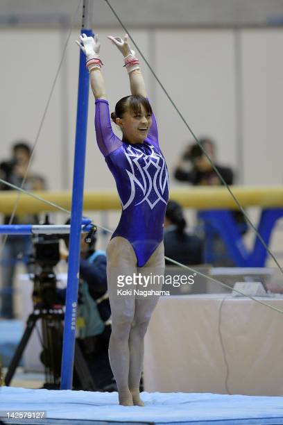 Rie Tanaka of Japan competes on the Uneven Bars during day two of the 66th All Japan Artistic Gymnastics All Around Championships at Yoyogi National...