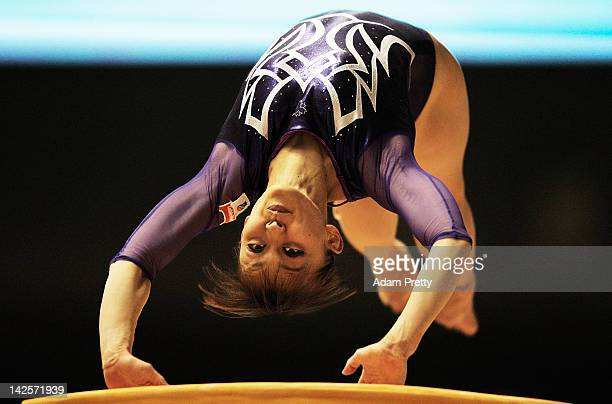 Rie Tanaka of Japan competes on the Vault during day two of the 66th All Japan Artistic Gymnastics All Around Championships at Yoyogi National...