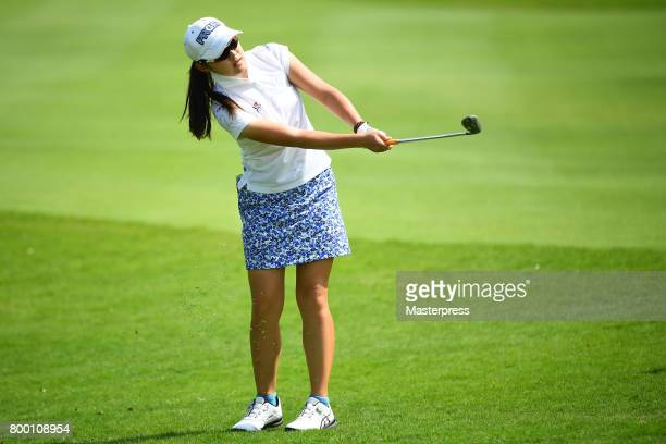 Rie Tsuji of Japan during the second round of the Earth Mondamin Cup at the Camellia Hills Country Club on June 23 2017 in Sodegaura Japan