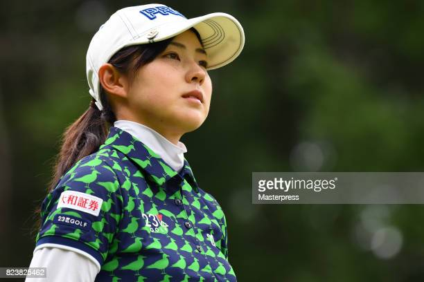 Rie Tsuji of Japan looks on during the second round of the Daito Kentaku Eheyanet Ladies 2017 at the Narusawa Golf Club on July 28 2017 in Narusawa...