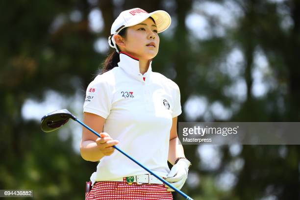 Rie Tsuji of Japan looks on during the third round of the Suntory Ladies Open at the Rokko Kokusai Golf Club on June 10 2017 in Kobe Japan
