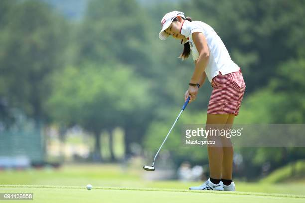 Rie Tsuji of Japan putts during the third round of the Suntory Ladies Open at the Rokko Kokusai Golf Club on June 10 2017 in Kobe Japan
