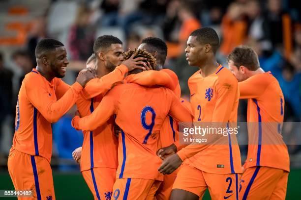 Riechedly Bazoer of Jong Oranje Jeremiah St Juste of Jong Oranje Steven Bergwijn of Jong Oranje Timothy FosuMensah of Jong Oranje Timothy FosuMensah...