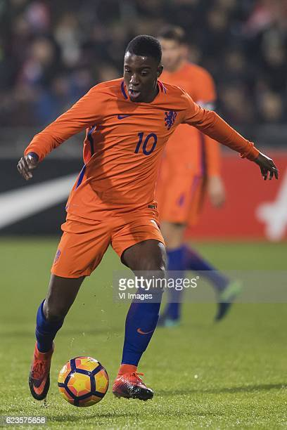 Riechedly Bazoer of The Netherlands U21during the friendly match between Netherlands U21 and Portugal U21 on November 15 2016 at the Vijverberg in...