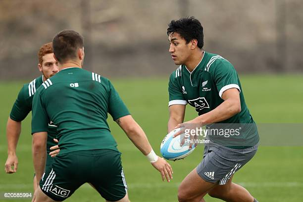 Rieko Ioane of the New Zealand Maori All Blacks trains at Toyota Park on November 2 2016 in Bridgeview Illinois