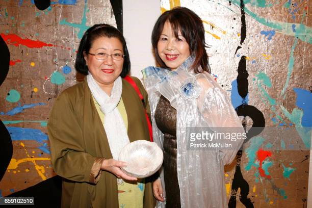 Rieko Wanibuchi and Masako Yuki attend GALLERY GEN hosts an art opening for YOSHIAKI YUKI at OpenHouse on April 10 2009 in New York City