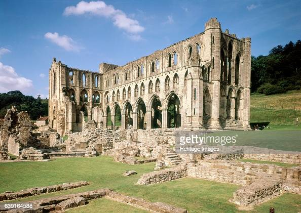Rievaulx Abbey c19902010 North Yorkshire General view A former Cistercian abbey in the North York Moors National Park North Yorkshire England It was...