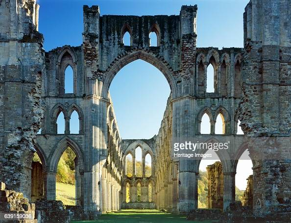 Rievaulx Abbey North Yorkshire c19902010 The crossing and east end of the abbey church showing autumn colour on the trees beyond A former Cistercian...