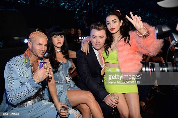 Riff Raff Katy Perry Sam Smith and Charli XCX attend the 2014 MTV Video Music Awards at The Forum on August 24 2014 in Inglewood California