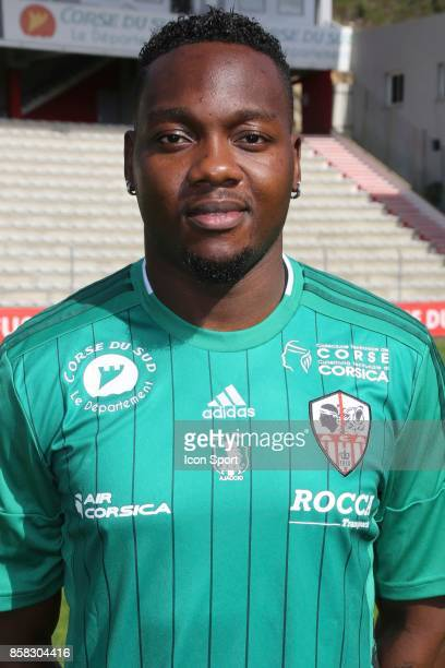 Riffi Mandanda during photoshooting of AC Ajaccio for new season 2017/2018 on October 5 2017 in Ajaccio France