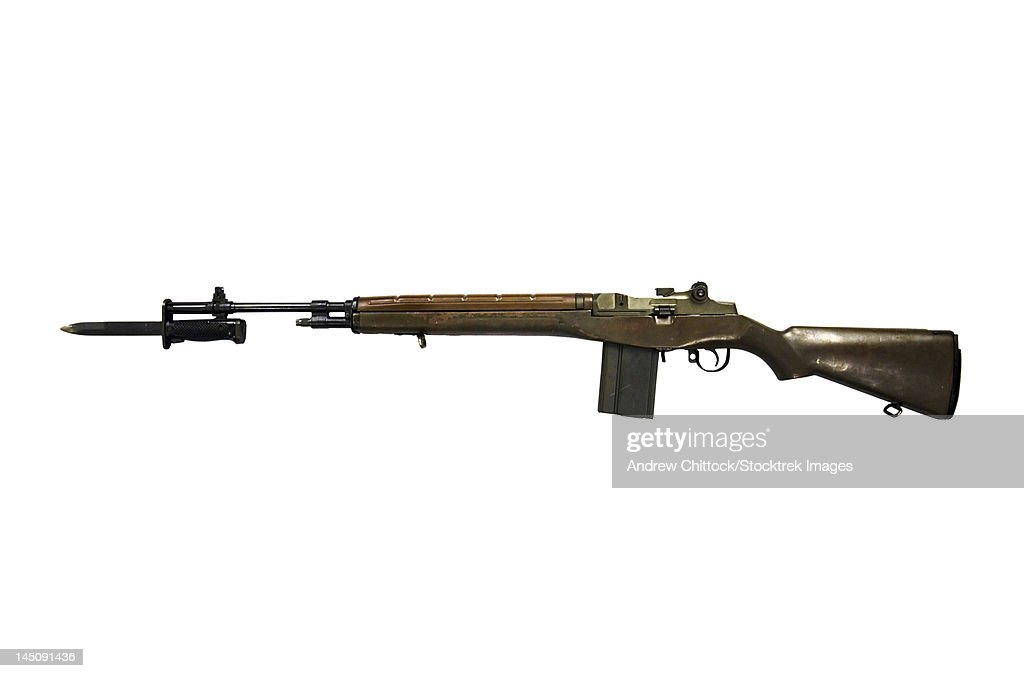 M14 rifle, developed from the M1 Garand.