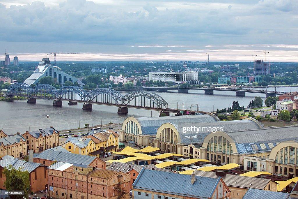 Riga, Latvia, cityscape from Academy of Sciences : Stock Photo