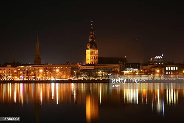 Rigas Dome Church by Night
