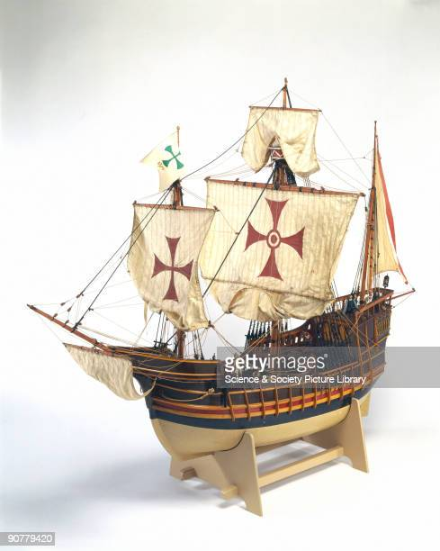 Rigged model representing the flagship of the expedition that discovered the Americas in 1492 Sponsored by King Ferdinand and Queen Isabella of Spain...