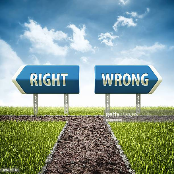 right and wrong evil crossroad