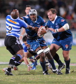 Right Flank Jonathan Adendorf in action during the Vodacom Cup final match between GWK Griquas and DHL Western Province at GWK Park on May 18 2012 in...