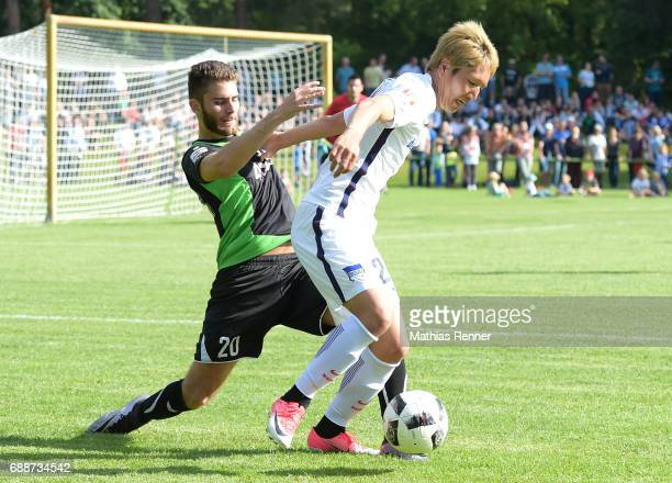 right Genki Haraguchi of Hertha BSC during the friendly match between SV FalkenseeFinkenkrug and Hertha BSC on may 26 2017 in Falkensee Germany