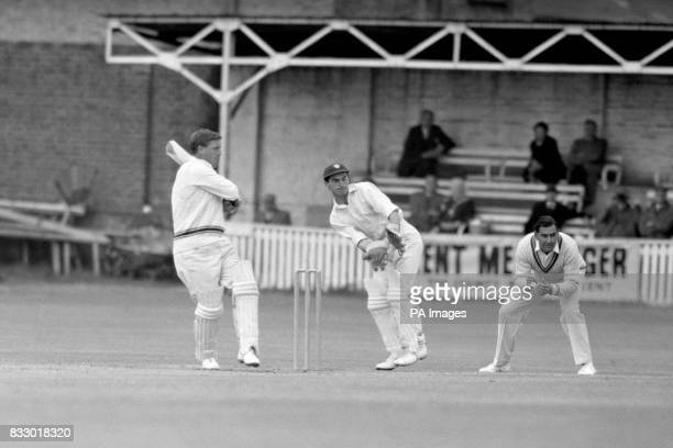 Right hand Batsman Peter Marner in action