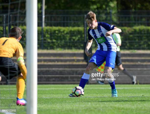 right Luca Netz of Hertha BSC U14 during the game of the 3rd place during the Nike Premier Cup 2017 on may 7 2017 in Berlin Germany