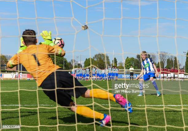 right Malte Fuerst of Hertha BSC U14 during the game of the 3rd place during the Nike Premier Cup 2017 on may 7 2017 in Berlin Germany