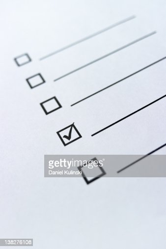 Right mark on paper : Stock Photo