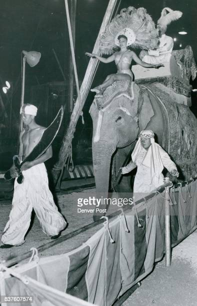 SEP 3 1954 SEP 4 1954 ***** Right shows some of the beauty and pageantry of the fast moving circus program This is the colorful 'Maharajah of...