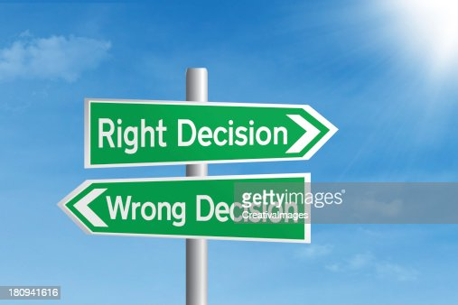 Right vs wrong decision : Stock Photo